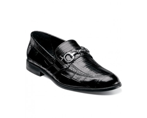 Stacy Adams Servino Snakeskin Bit Loafers Men's Shoes