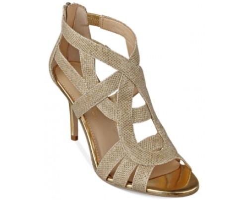 Marc Fisher Nala3 Mid Heel Evening Sandals Women's Shoes