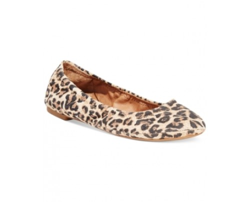 Lucky Brand Animal Print Emmie Flats Women's Shoes