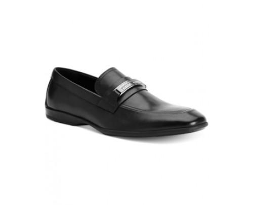 Calvin Klein Vick Leather Bit Loafers Men's Shoes