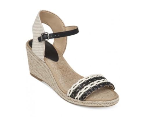 Lucky Brand Women's Kavelli Espadrille Two-Piece Platform Wedge Sandals Women's Shoes
