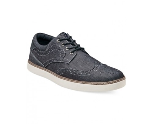 Stacy Adams Tru Casual Chambray Wing-Tip Shoes Men's Shoes