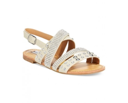 Not Rated by Naughty Monkey Abbot Kinney Embellished Flat Sandals Women's Shoes