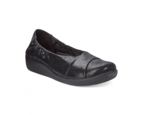 Clarks Collection Women's Cloudsteppers Sillian Intro Flats, Only at Macy's Women's Shoes