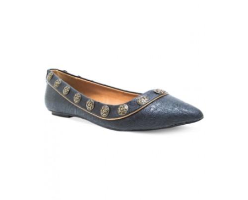 Chelsea & Zoe Aeron Studded Flats Women's Shoes