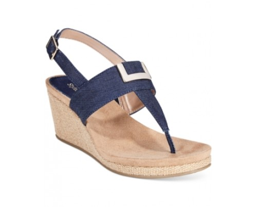 Style & co. Maryana Wedge Thong Sandals, Only at Macy's Women's Shoes