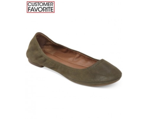 Lucky Brand Suede Emmie Flats Women's Shoes