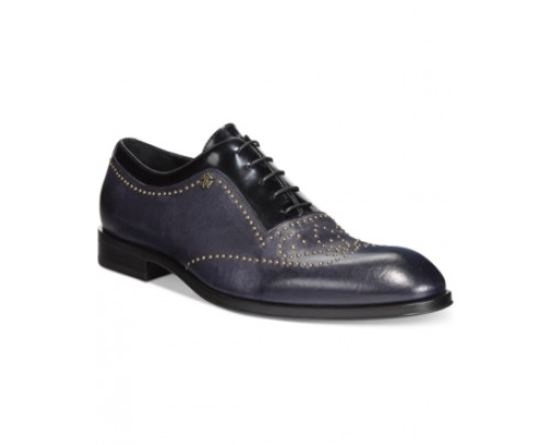 Roberto Cavalli Beaded Wingtip Patent Leather Oxfords Men's Shoes