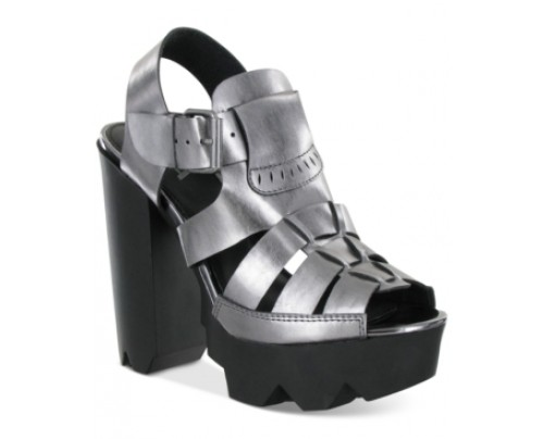 Mia Luka Platform Razor Lug Sandals Women's Shoes
