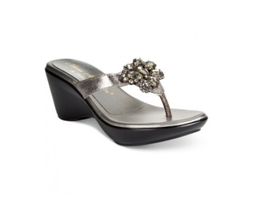 Callisto Juli Embellished Wedge Sandals Women's Shoes