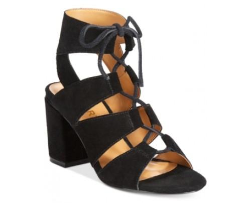 Report Edolie Block Heel Lace-Up Sandals Women's Shoes