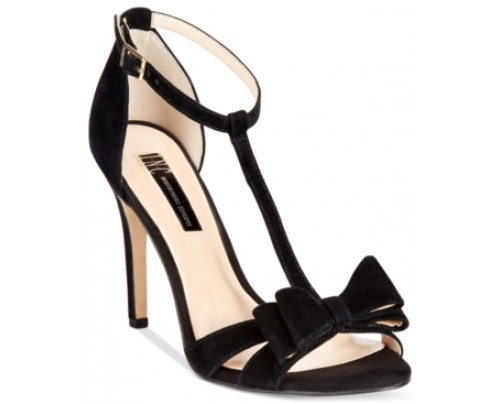 Inc International Concepts Women's Reesie Bow T-Strap Sandals, Only at Macy's Women's Shoes