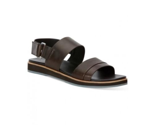 Calvin Klein Dex Leather Sandals Men's Shoes