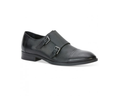 Calvin Klein Sheen Double Monk Loafers Men's Shoes
