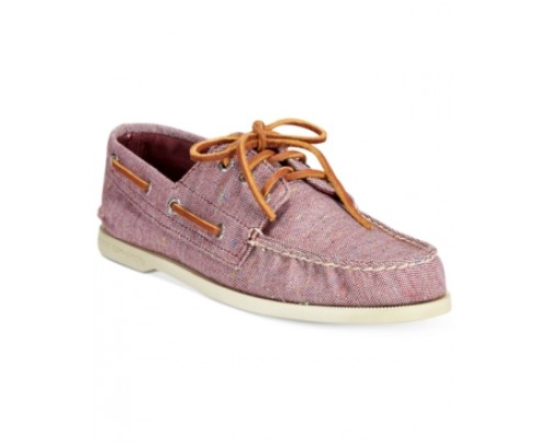 Sperry A/O 3-Eye Fleck Canvas Boat Shoes Men's Shoes