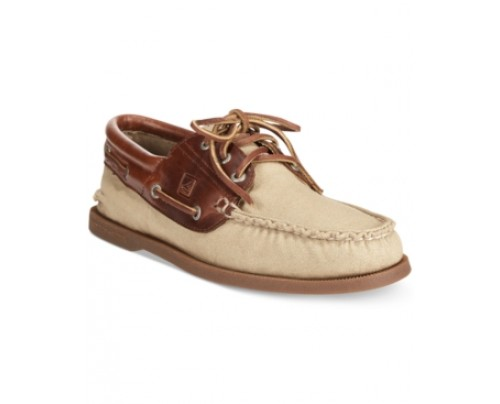Sperry A/O 3-Eye Padded Canvas Boat Shoes Men's Shoes