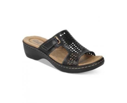 Clarks Collection Women's Hayla Samoa Wedge Sandals Women's Shoes
