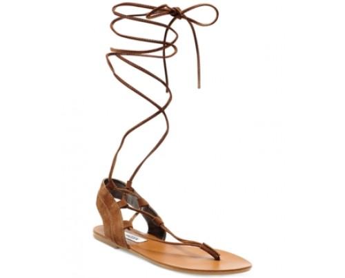 Steve Madden Walkitt Lace-Up-Leg Sandals Women's Shoes