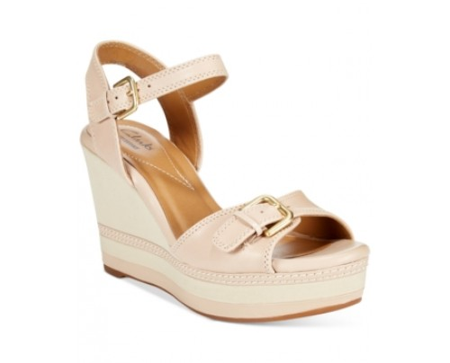 Clarks Collection Women's Zia Castle Wedge Sandals Women's Shoes