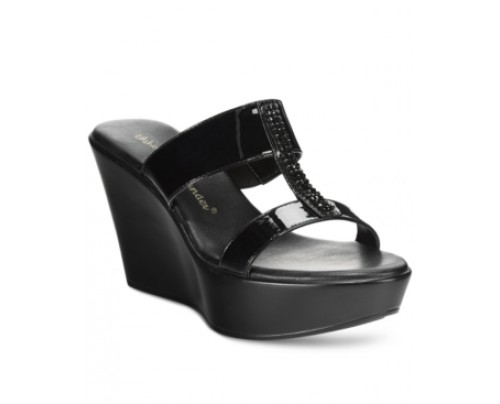 Athena Alexander by Callisto Pinky Embellished Wedge Sandals Women's Shoes