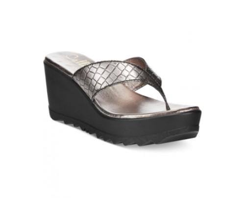 Callisto Jamaica Thong Wedge Sandals Women's Shoes