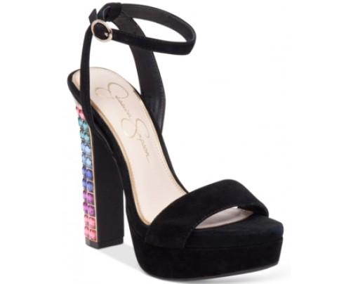 Jessica Simpson Banda Embellished Platform Dress Sandals Women's Shoes