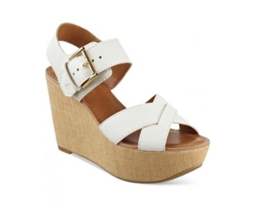 Tommy Hilfiger Fizz Platform Wedge Sandals Women's Shoes