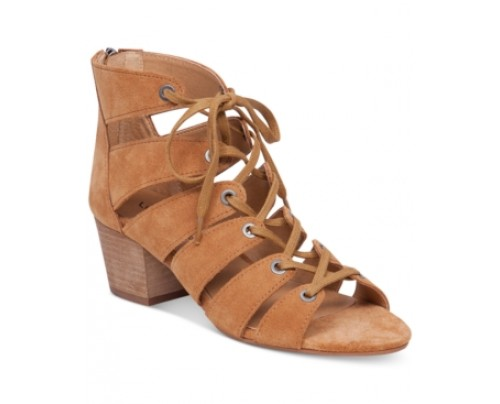 Lucky Brand Women's Genevie Ghillie Lace Up Sandals Women's Shoes