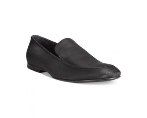 Calvin Klein Nicco Trapegon Textured Loafers Men's Shoes