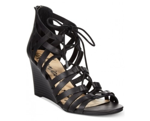 American Rag Kyle Lace-Up Demi Wedge Sandals, Only at Macy's Women's Shoes