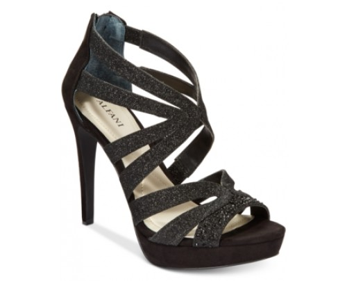 Alfani Women's Cymball Caged Platform Evening Sandals, Only at Macy's Women's Shoes