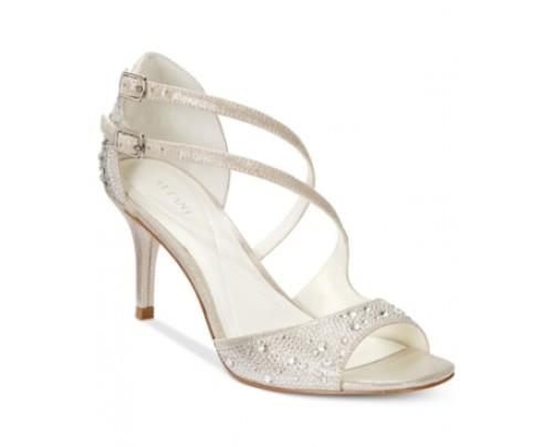 Alfani Women's Cremena Asymmetrical Evening Sandals, Only at Macy's Women's Shoes