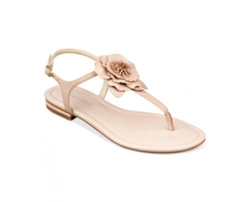 Marc Fisher Elysone T-Strap Flat Sandals Women's Shoes