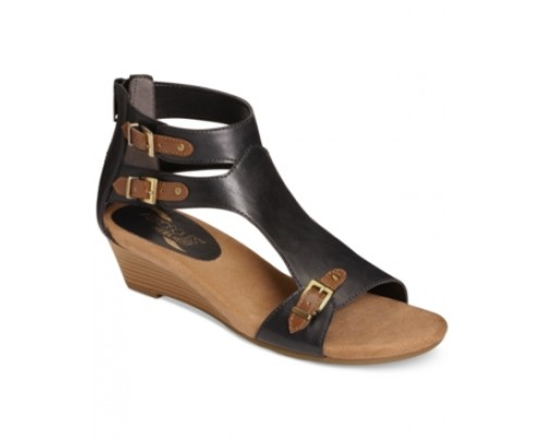 Aerosoles Yet Another T-Strap Wedge Sandals Women's Shoes