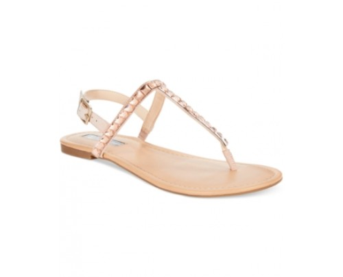 Inc International Concepts Women's Montawk Embellished T-Strap Slingback Sandals, Only at Macy's Women's Shoes