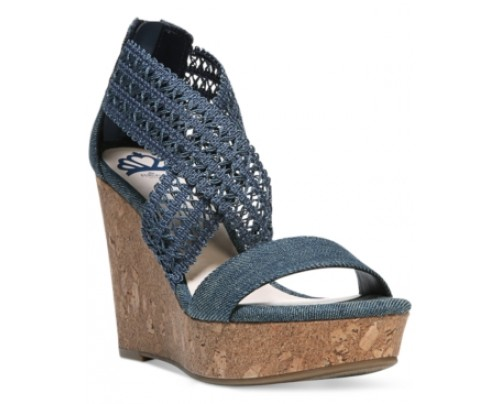 Fergalicious Vanessa Platform Wedge Sandals Women's Shoes