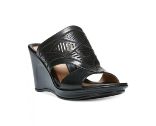 Naturalizer Oshea Open Toe Wedge Sandals Women's Shoes
