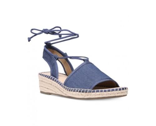 Franco Sarto Liona Lace-Up Espadrille Wedge Sandals Women's Shoes