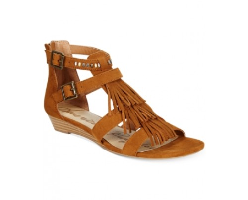 American Rag Leah Demi-Wedge Fringe Gladiator Sandals, Only at Macy's Women's Shoes