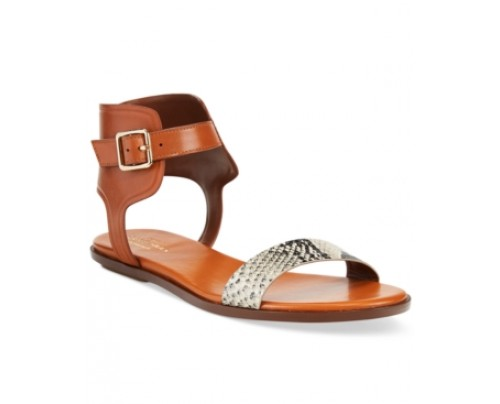 Cole Haan Barra Snake-Print Sandals Women's Shoes