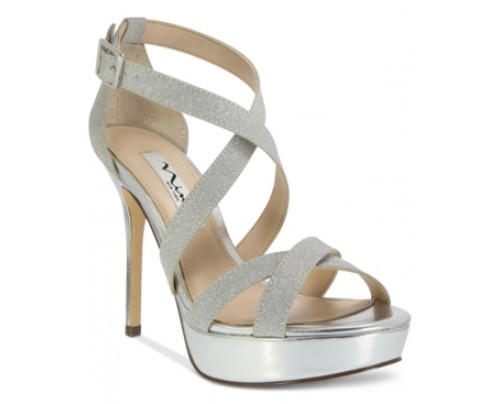 Nina Sevilla Cross-Strap Platform Sandals Women's Shoes